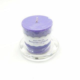 Bougie cylindrique violet 6.5cmX7cm