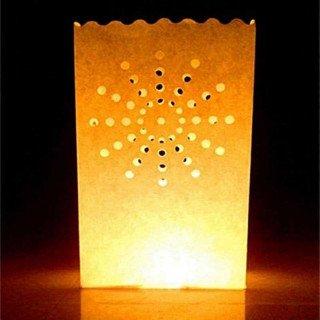 Sachet lanterne papier X10 motifs ronds