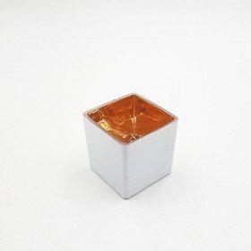 photophore carré blanc et rose gold 6cmx6cm