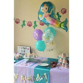 Kit décoration anniversaire sirène