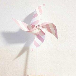 Moulin à vent décoration rose chevron
