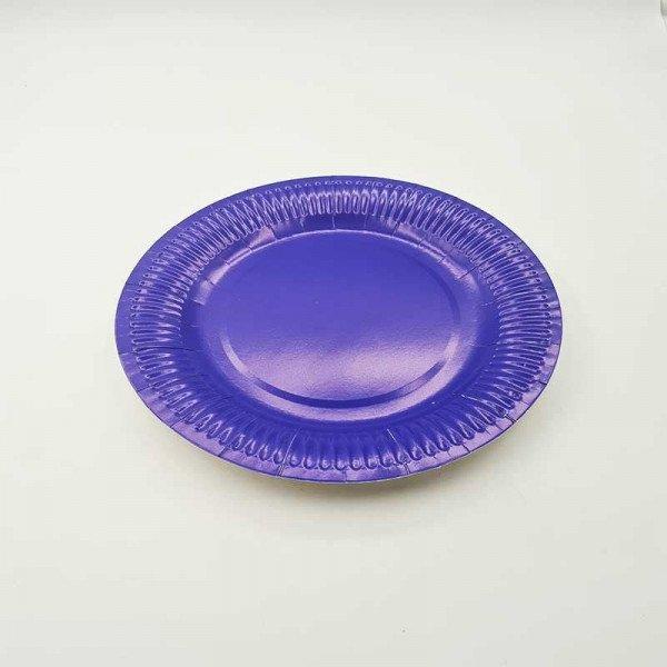 10 assiettes bleu roi