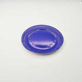 10 petites assiettes carton bleu roi