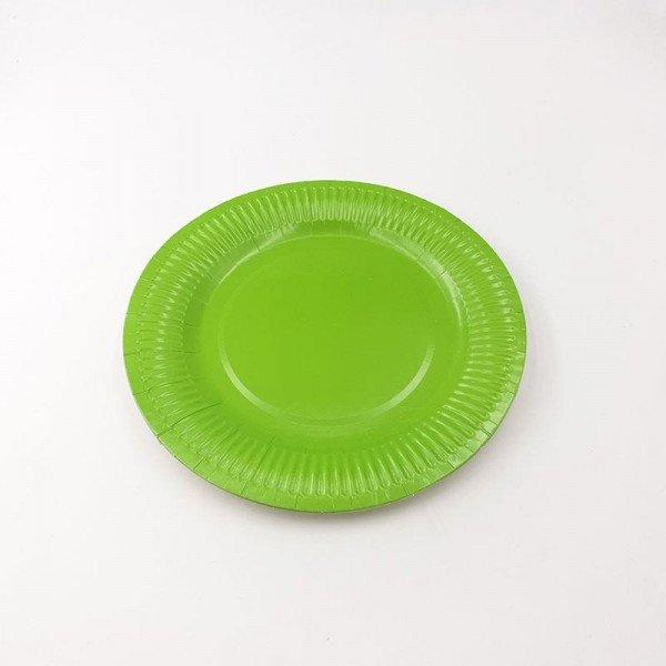 10 assiettes vert anis