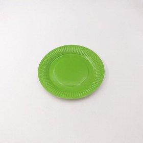 10 petites assiettes carton vert anis