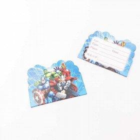 10 cartes d'invitation Avengers