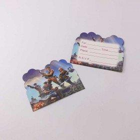 10 cartes d'invitation Fortnite
