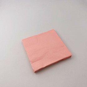 serviette rose corail X20