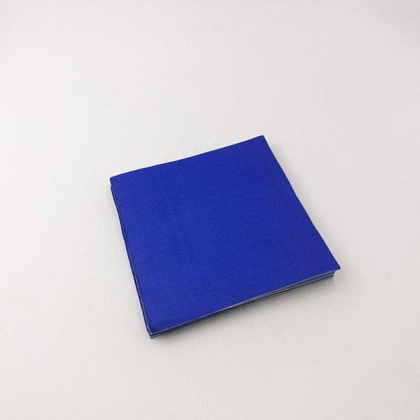 Serviette papier bleu roi fonçé X20