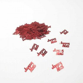 Confettis Joyeux Noel Rouge