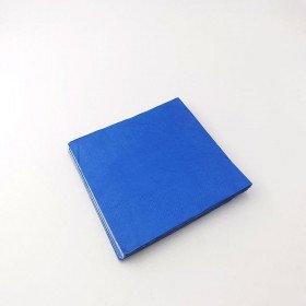 Serviette papier bleu roi X20