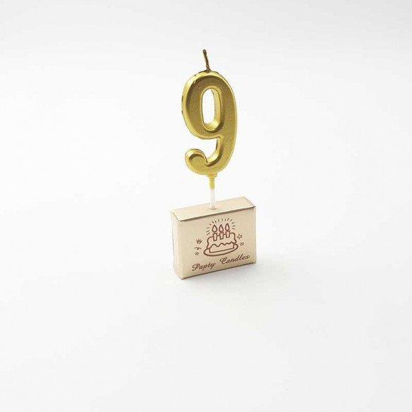 Bougie Chiffre anniversaire or sur pic