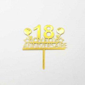 Cake topper anniversaire 18 ans