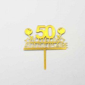 Cake topper anniversaire 50 ans