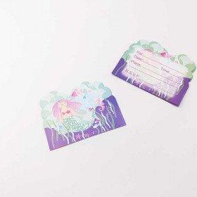 10 cartes d'invitation sirène