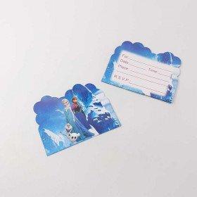 10 cartes d'invitation reine des neiges