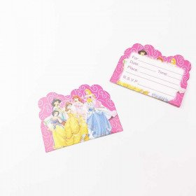 10 cartes d'invitation princesses Disney