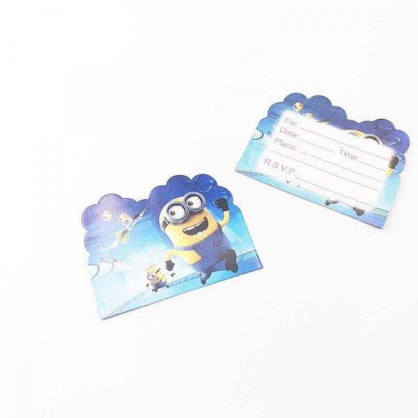 10 cartes d'invitation Minions