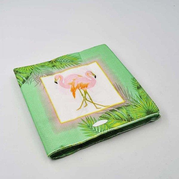 Serviette papier Flamant rose x20