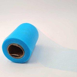 Rouleau tulle bleu 10cmx27m