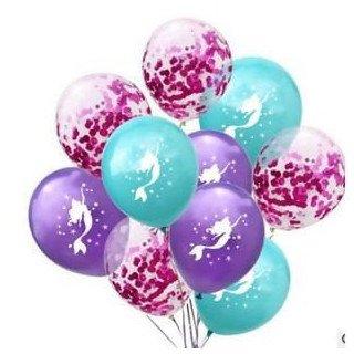 Ballons sirène et guirlande