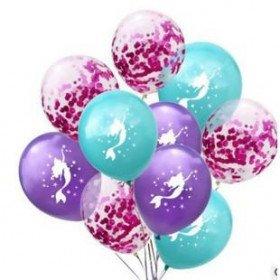 kit 10 ballons sirène et confettis (10 pcs)