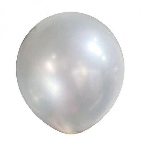 25 ballons nacrés blanc