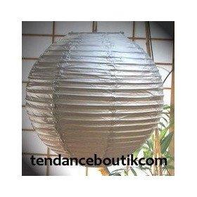Boule Lampion papier argent 40cm