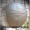 Boule Lampion papier argent 30cm