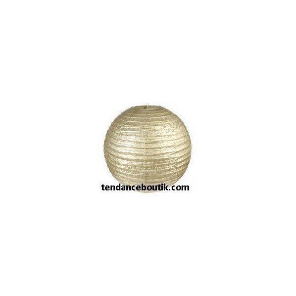 Boule Lampion papier or 40cm