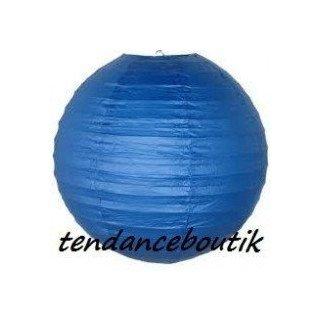 Boule Lampion papier bleu roi 30cm