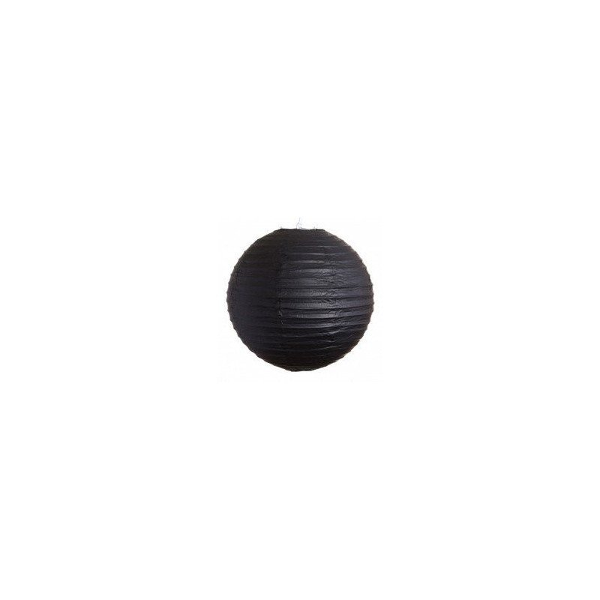 Boule Lampion papier noir 30cm