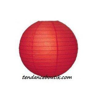 Boule Lampion papier rouge 30cm
