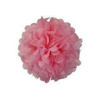 Pompons Fleurs Papier de Soie rose 20cm lot de 4