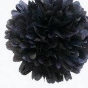 Pompon Fleur Papier de Soie noir 35cm