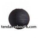 Boule lampion papier noire 40cm
