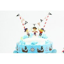 Cake topper anniversaire Pirate