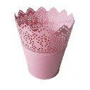 Pot dentellé rose