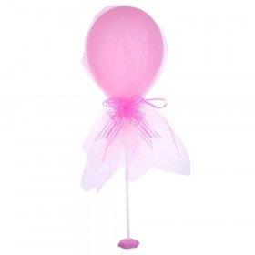 ballon rose avec tulle sur tige