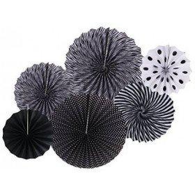 Kit 6 rosaces papier noires
