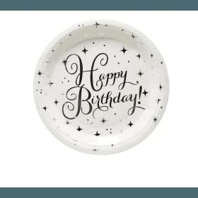 assiette argent happy birthday