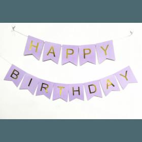 Guirlande happy birthday parme