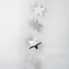guirlande étoile brillante argent