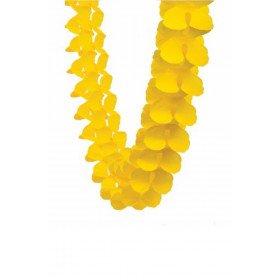 guirlande papier de soie jaune