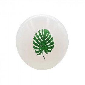 ballon latex feuille tropicale