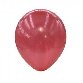 ballon rouge nacré
