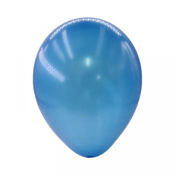 sachet de 25 ballons bleu foncé en latex