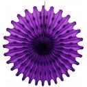 Rosace papier de couleur violet. Diametre 50 cm