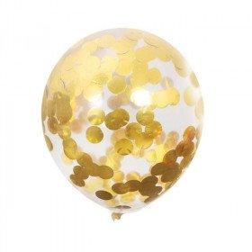 ballon transparent confettis or