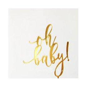 décoration baby shower doré